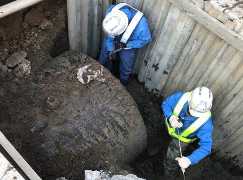 ラフタークレーン、オールタークレーン、土木工事、埋設物撤去